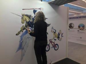 Fresque réalisée en direct sur le stand par Jérôme Lereculey